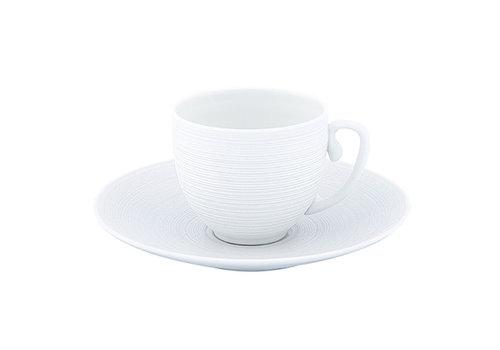 Coquet Limoges Schoteltje / Ondertas voor koffiekop Coquet Hémisphère wit