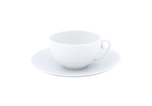 Coquet Limoges Schoteltje / Ondertas voor theekop Coquet Hémisphère wit 16,5 cm