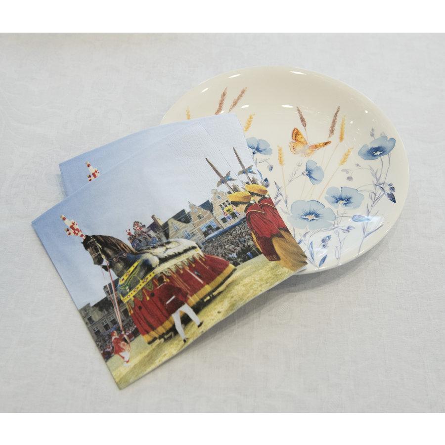 Pakje van 20 papieren Ros Beiaardservetten -2021-1