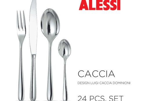 Alessi Set 24-delig Caccia (vork 3 tanden) monobloc