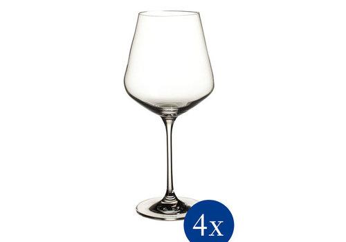 Villeroy & Boch Set van 4 rode wijnglazen La Divina 47 cl 235 mm