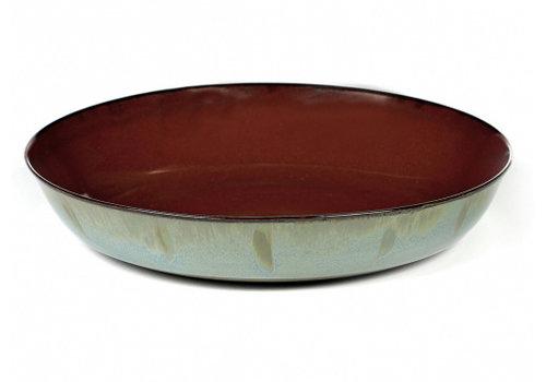 Serax Diep bord Anita Le Grelle 21 cm Rust/Smokey Blue B5116139