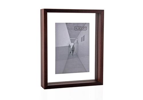 XLBOOM Fotokader /  floating box 20x25 cm donker hout