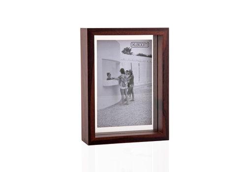 XLBOOM Fotokader /  floating box 13x18  cm donker hout