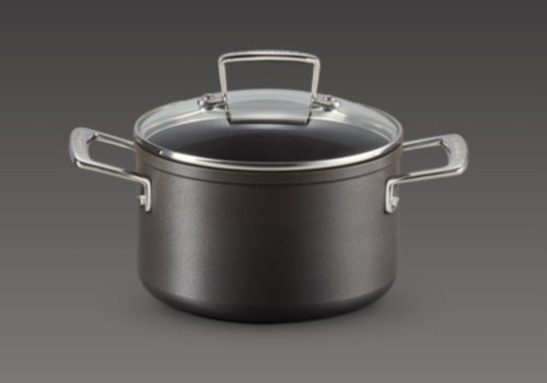 Le Creuset Kookpot Anti-Aanbak 18 cm  en glazen deksel