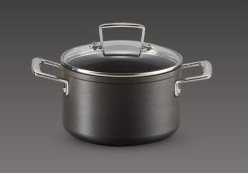 Le Creuset Kookpot Anti-Aanbak 24 cm  en glazen deksel