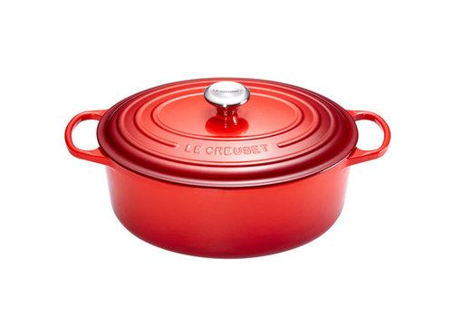 Le Creuset Ovale stoofpan 33 cm rood gietijzer