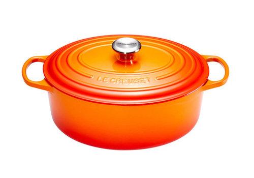 Le Creuset Ovale stoofpan 33 cm  oranje volcanique  gietijzer