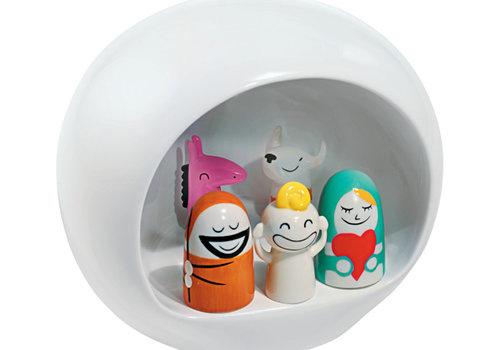 Alessi Kerststal wit met 5 figuren