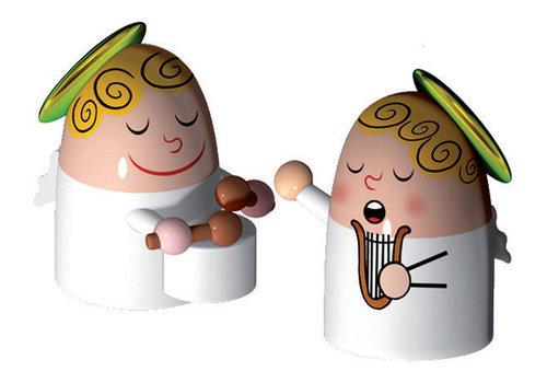 Alessi Musicerende engels - Muziekband engels - bij Kerststal