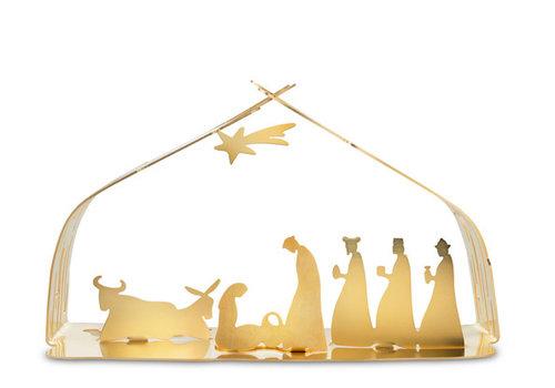 Alessi Kerststal goudkleurig