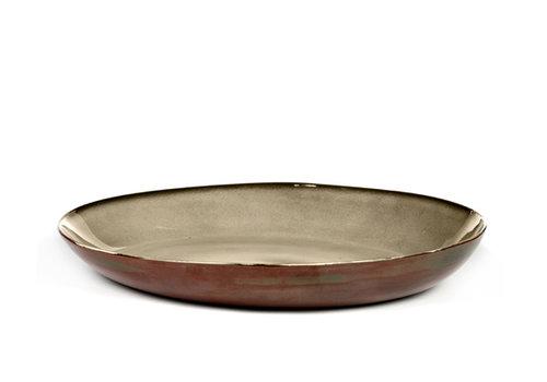 Serax Serveerschaal 35 cm Anita Le Grelle Terres de Rêves  Misty - Rust