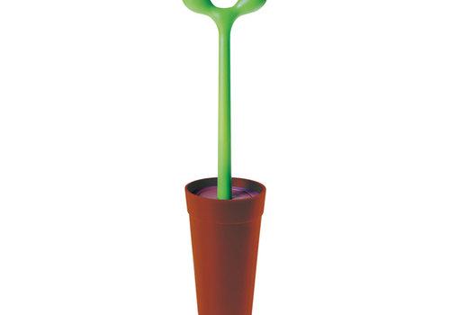 Alessi Toiletborstel groen bruin Mendolino