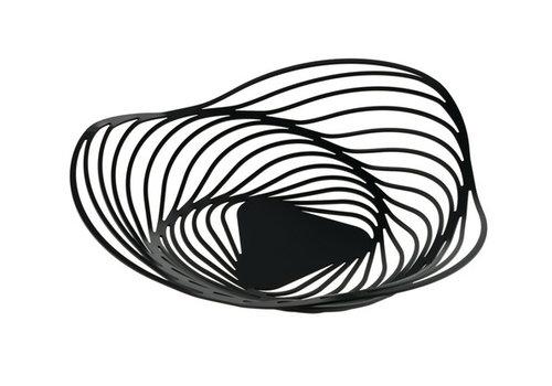 Alessi Fruitschaal zwart Trinity 33 cm