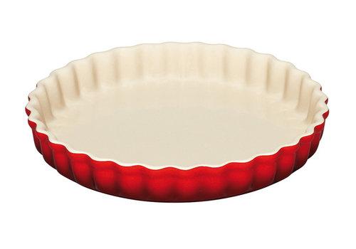Le Creuset Taartvorm rood 28 cm keramiek