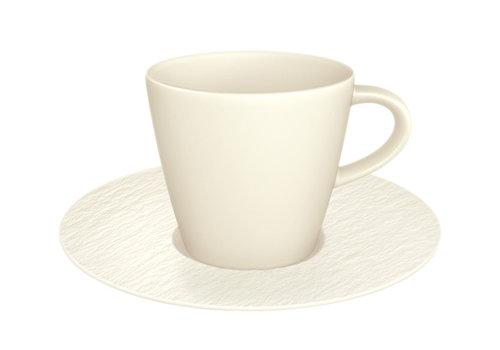 Villeroy & Boch Koffiekop en schotel Manufacture Rock wit