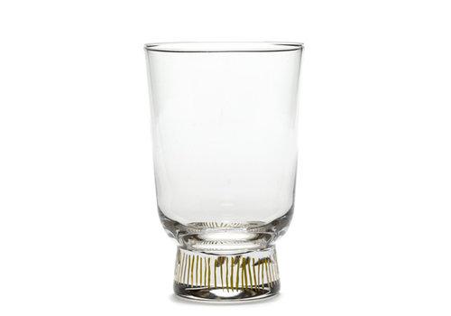 Serax Glas Feast Stripes Ottolenghi 35 cl vergulde streepjes
