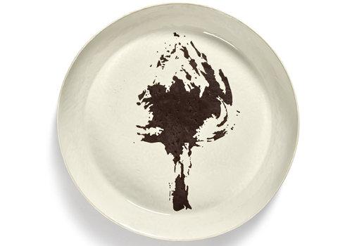 Serax Serveerschotel  44.5 cm zwarte artisjok Feast Ottolenghi