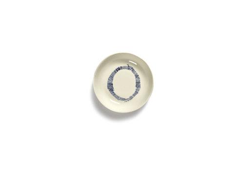 Serax Bordje 11.5 cm Feast Ottolenghi blauwe streepjes