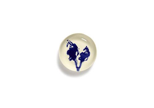 Serax Bordje 11.5 cm Feast Ottolenghi wit met blauwe artisjok