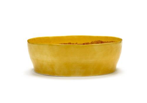 Serax Slakom 28.5 cm Feast Ottolenghi geel met rode streepjes