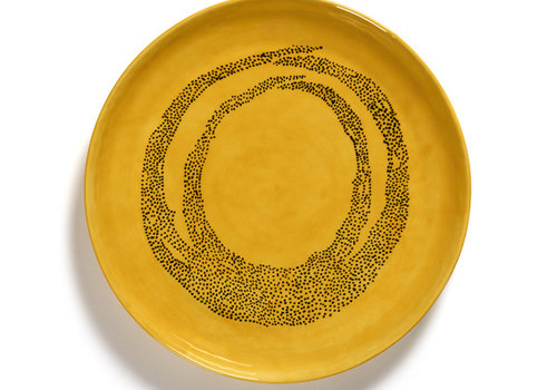 Serax Serveerschaal 35 cm Feast Ottolenghi geel met zwarte stipjes