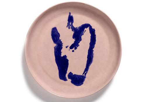 Serax Serveerschaal 35 cm Feast Ottolenghi roos met blauwe paprika
