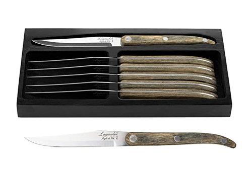 Style de Vie Authentique Set 6 steakmessen Innovation Line pakka grijs