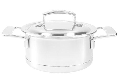 Demeyere Kookpot 16 cm Silver met dubbelwandig deksel