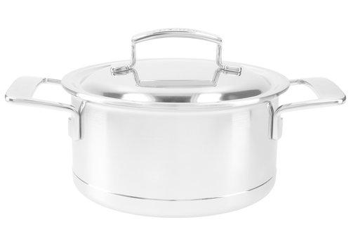 Demeyere Kookpot 18 cm Silver met dubbelwandig deksel