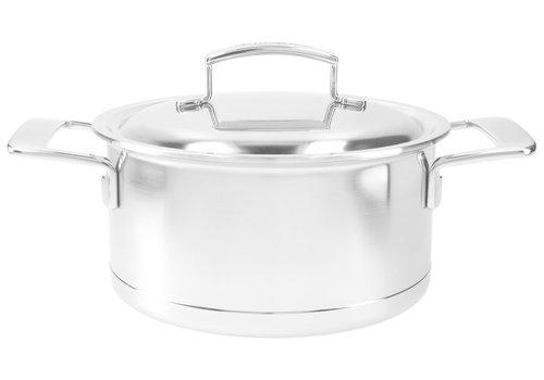 Demeyere Kookpot 20 cm Silver met dubbelwandig deksel