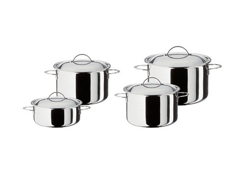 Spring Starterset Cristal : hoge kookpot 16, 20 en 24 cm + lage kookpot 20 cm