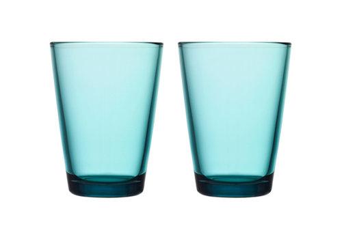 Iittala Set van 6 bekers Kartio zeeblauw 40 cl