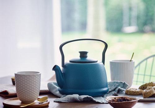 Beka Cookware Theepot gietijzer Juna Ocean blauw 1 liter