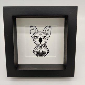 """Print cat in frame (6.3""""x6.3"""")"""