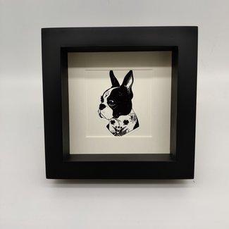 Print dog in frame