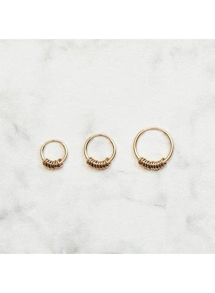 Koi d'Azur KDZ - Hoop La boucle d'oreilles Tiny Rings | Gold