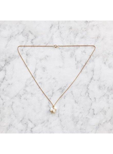 Koi d'Azur KDZ - 3 Big Pearls Le Collier | Gold