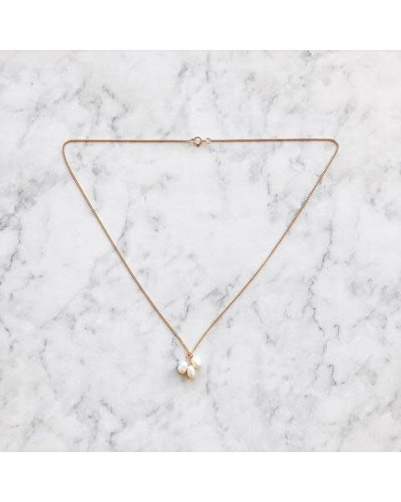 Koi d'Azur KDZ - 3 Big Pearls Necklace | Gold