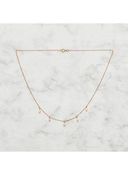 Koi d'Azur KDZ - Le Collier Dangle Pearls | Gold
