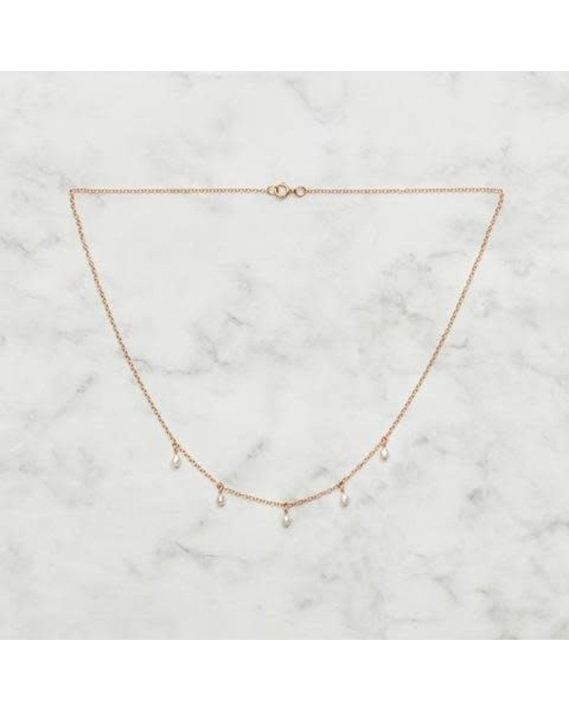 Koi d'Azur KDZ - Dangle Pearls Necklace | Gold