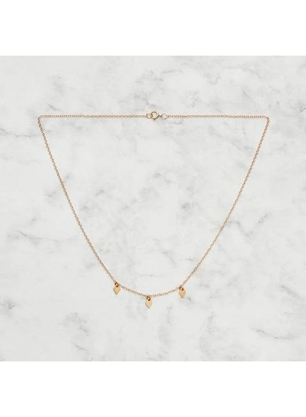 Koi d'Azur KDZ - 3 Dangling Diamonds Necklace | Gold