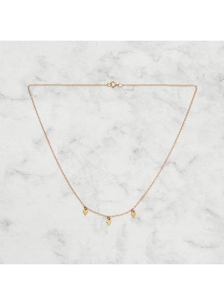 Koi d'Azur KDZ - Le Collier 3 Dangling Diamonds | Gold