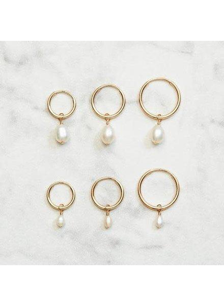 Koi d'Azur KDZ - Hoop Earring Fresh Water Pearl | Gold