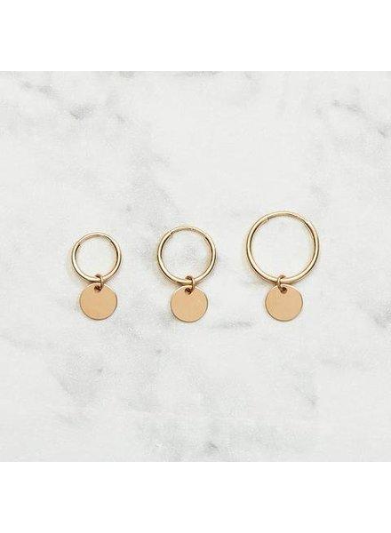 Koi d'Azur KDZ - Tiny Coin Hoop Earring | Gold