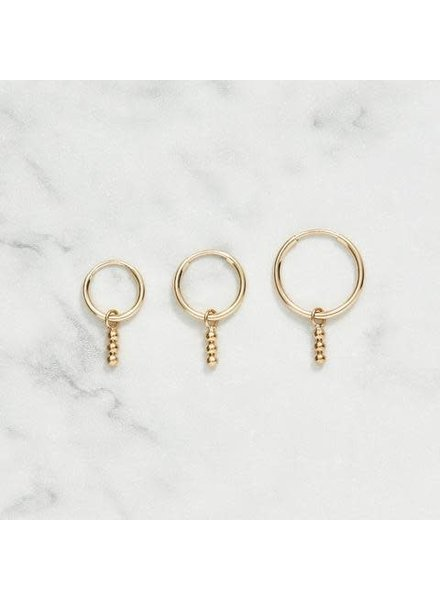 Koi d'Azur KDZ - Gold Hoop Earring | Triple Dot Pendant