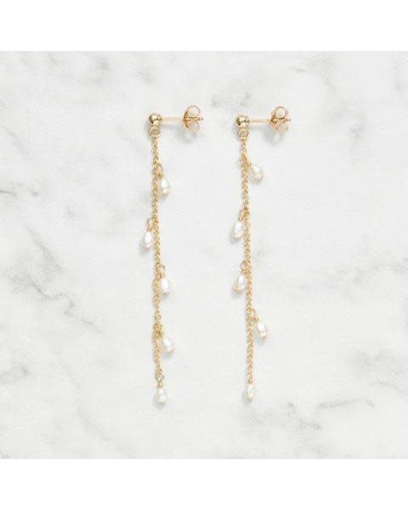 Koi d'Azur KDZ - Dangle Pearls Stud | Gold