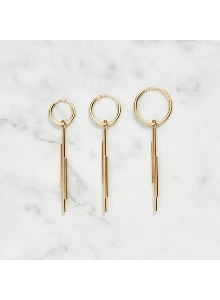 Koi d'Azur KDZ - Gold Hoop Earring | Long Lines Pendant