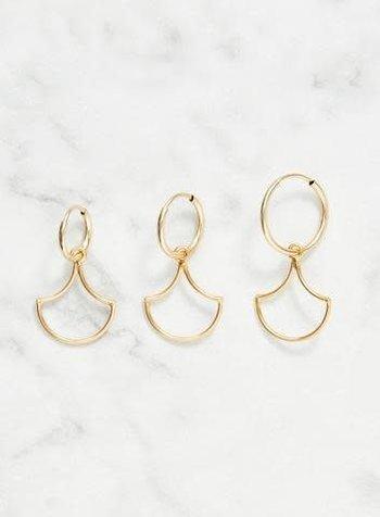Koi d'Azur KDZ - Gold Hoop Earring | Open Scale Pendant