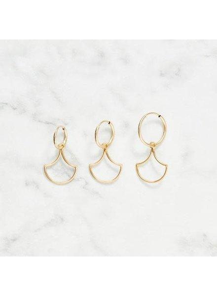 Koi d'Azur KDZ - Open Scale Pendant Hoop Earring | Gold